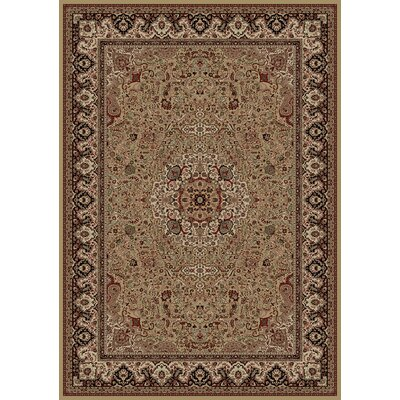 Persian Gold Classics Oriental Isfahan Area Rug Rug Size: 67 x 96