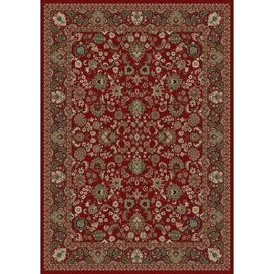 Persian Classics Oriental Mahal Red Area Rug Rug Size: Rectangle 27 x 5