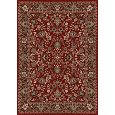 Persian Classics Oriental Mahal Red Area Rug Rug Size: 53 x 77