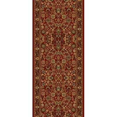 Persian Classics Oriental Mahal Red Area Rug Rug Size: Runner 2 x 77
