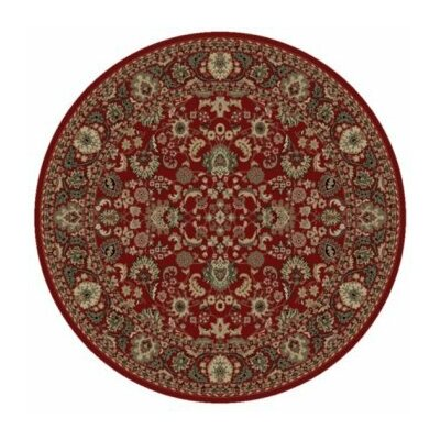 Persian Classics Oriental Mahal Red Area Rug Rug Size: Round 53