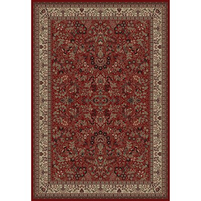 Persian Classics Oriental Sarouk Red Area Rug Rug Size: Rectangle 93 x 1210