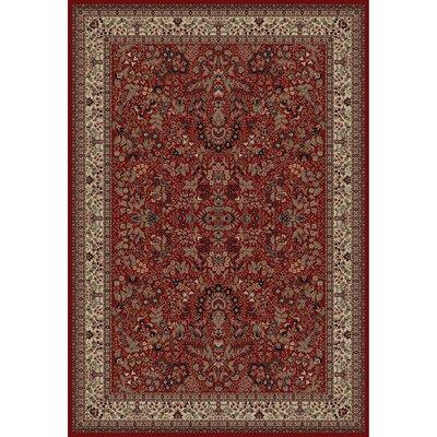 Persian Classics Oriental Sarouk Red Area Rug Rug Size: 53 x 77