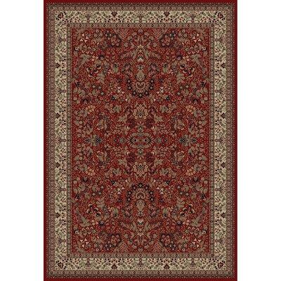 Persian Classics Oriental Sarouk Red Area Rug Rug Size: 67 x 96
