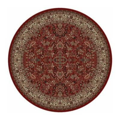 Persian Classics Oriental Sarouk Red Area Rug Rug Size: Round 710