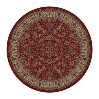 Persian Classics Oriental Sarouk Red Area Rug Rug Size: Round 53