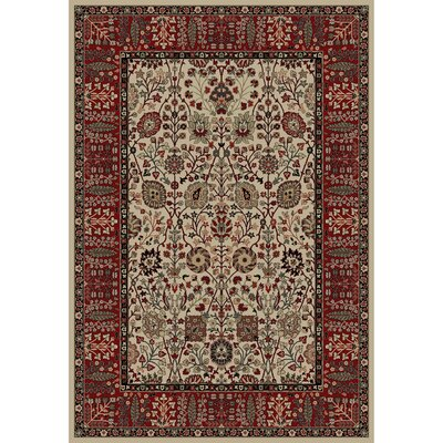 Persian Classics Oriental Vase Area Rug Rug Size: 67 x 96