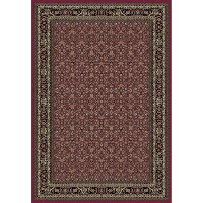 Persian Classics Herati Red Area Rug Rug Size: 53 x 77