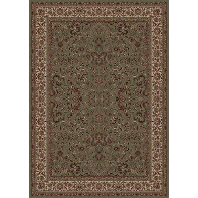 Persian Classics Oriental Kashan Green Area Rug Rug Size: 67 x 96