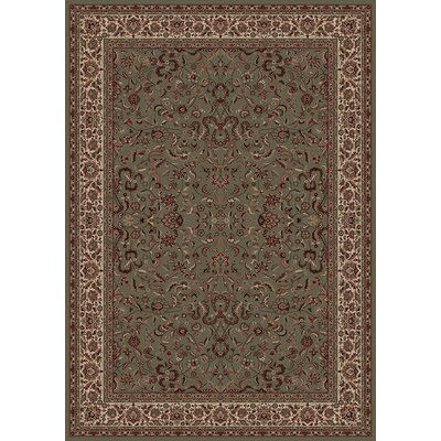 Persian Classics Oriental Kashan Green Area Rug Rug Size: 710 x 112