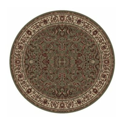 Persian Classics Oriental Kashan Green Area Rug Rug Size: Round 710