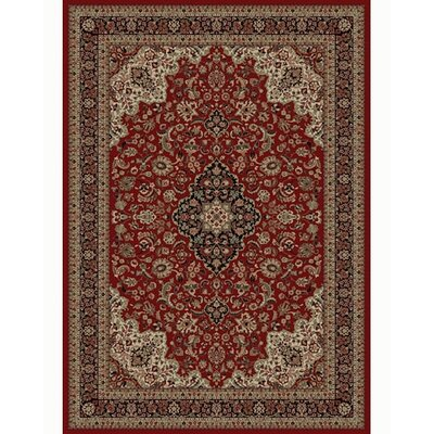 Persian Classics Oriental Medallion Red Area Rug Rug Size: 67 x 96