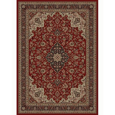 Persian Classics Oriental Medallion Red Area Rug Rug Size: 53 x 77