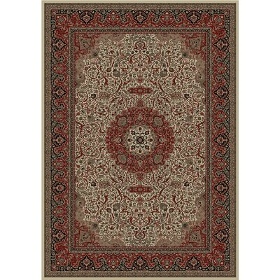 Persian Dark Brown Classics Oriental Isfahan Area Rug Rug Size: Rectangle 53 x 77