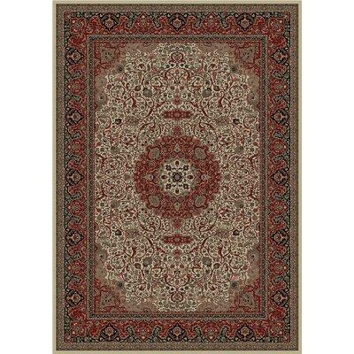 Persian Dark Brown Classics Oriental Isfahan Area Rug Rug Size: 6'7