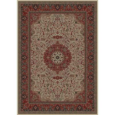 Persian Dark Brown Classics Oriental Isfahan Area Rug Rug Size: 5'3