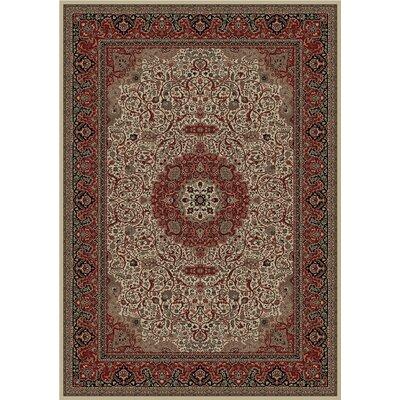 Persian Dark Brown Classics Oriental Isfahan Area Rug Rug Size: Runner 27 x 5