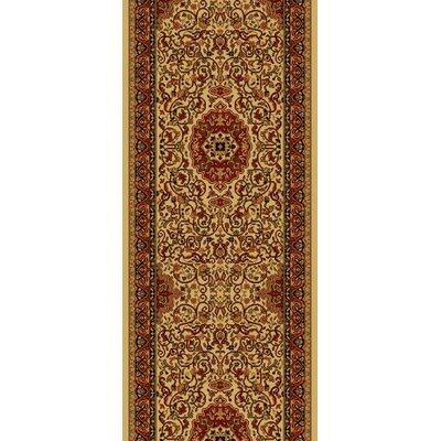 Persian Dark Brown Classics Oriental Isfahan Area Rug Rug Size: Runner 2 x 77