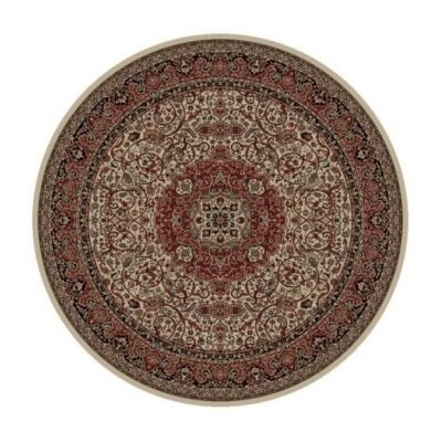 Persian Dark Brown Classics Oriental Isfahan Area Rug Rug Size: Round 53