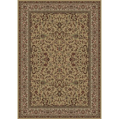 Persian Classics Brown Oriental Kashan Area Rug Rug Size: Rectangle 67 x 96