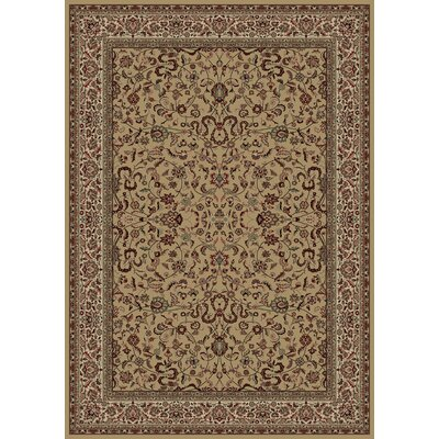 Persian Classics Brown Oriental Kashan Area Rug Rug Size: 53 x 77