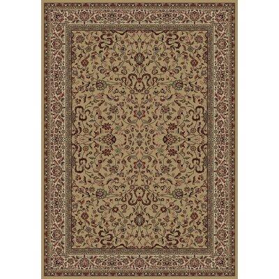 Persian Classics Brown Oriental Kashan Area Rug Rug Size: 93 x 1210