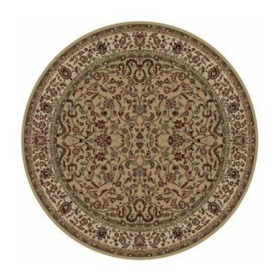 Persian Classics Brown Oriental Kashan Area Rug Rug Size: Round 710