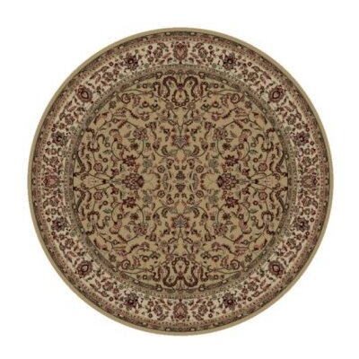 Persian Classics Brown Oriental Kashan Area Rug Rug Size: Round 53