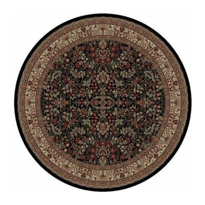 Persian Classics Oriental Sarouk Area Rug Rug Size: Round 53
