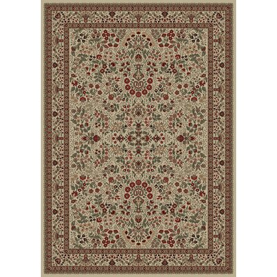 Persian Classics Oriental Sarouk Ivory Area Rug Rug Size: Rectangle 53 x 77