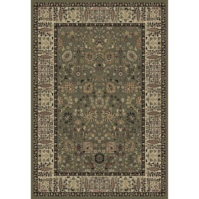 Persian Classics Oriental Vase Green Area Rug Rug Size: 53 x 77