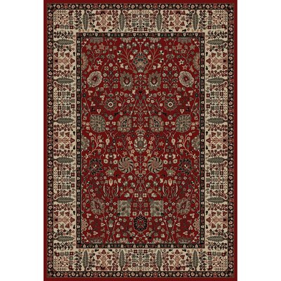 Persian Classics Oriental Vase Red Area Rug Rug Size: 53 x 77