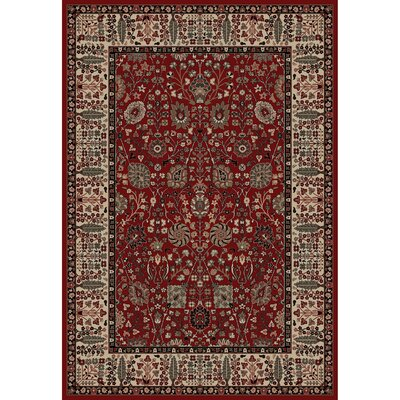 Persian Classics Oriental Vase Red Area Rug Rug Size: 67 x 96