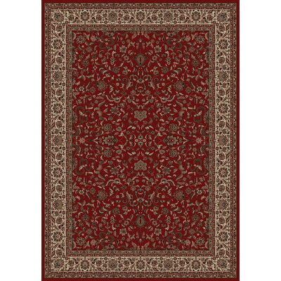 Persian Classics Oriental Kashan Red Area Rug Rug Size: 93 x 1210