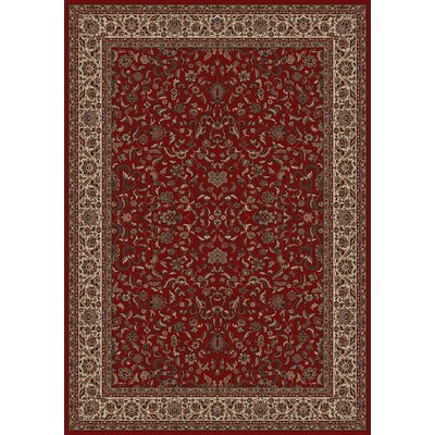 Persian Classics Oriental Kashan Red Area Rug Rug Size: Runner 27 x 5