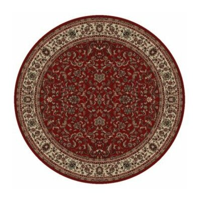 Persian Classics Oriental Kashan Red Area Rug Rug Size: Round 53