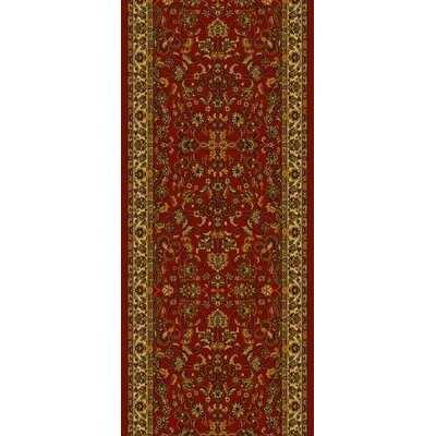 Persian Classics Oriental Kashan Red Area Rug Rug Size: Runner 2 x 77