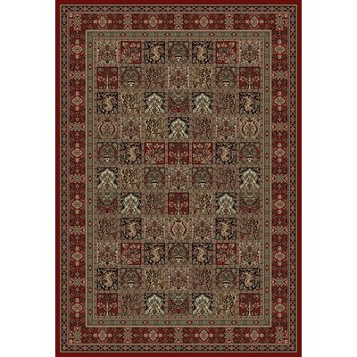 Persian Classics Panel Red Area Rug Rug Size: Rectangle 27 x 5