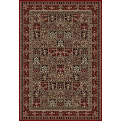 Persian Classics Panel Red Area Rug Rug Size: Runner 2'7