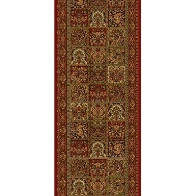 Persian Classics Panel Red Area Rug Rug Size: Runner 2 x 77