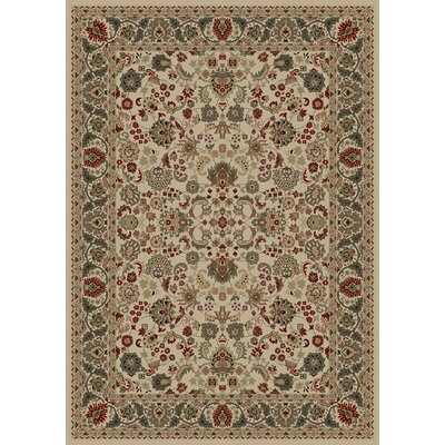 Persian Classics Oriental Mahal Ivory Area Rug Rug Size: Rectangle 67 x 96