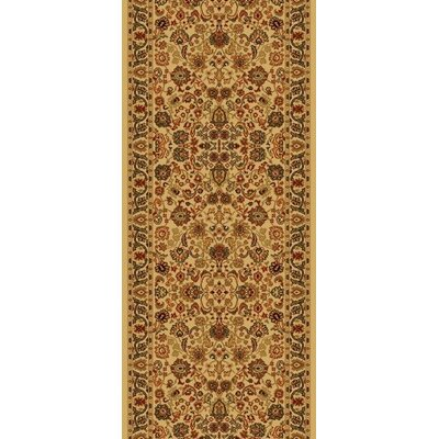 Persian Classics Oriental Mahal Ivory Area Rug Rug Size: Runner 2 x 77