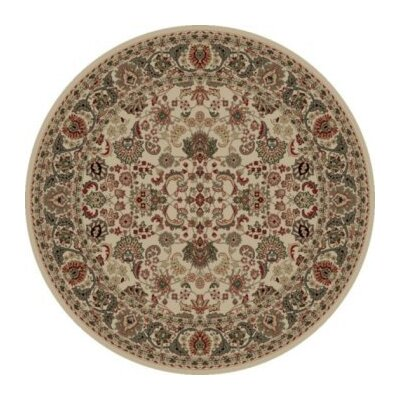 Persian Classics Oriental Mahal Ivory Area Rug Rug Size: Round 710