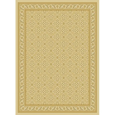 Damask Ivory Contemporary Rug Rug Size: Rectangle 53 x 73