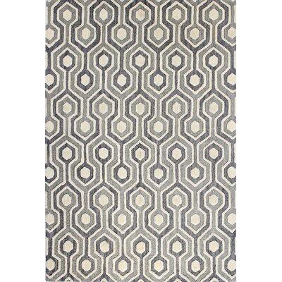 Grey Area Rug Rug Size: 36 x 56