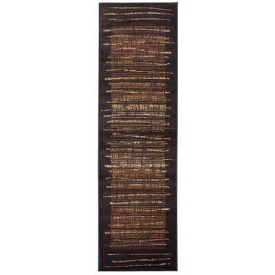 Bellevue Brown Area Rug Rug Size: Runner 23 x 77