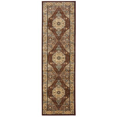 Red Area Rug Rug Size: Runner 2'3