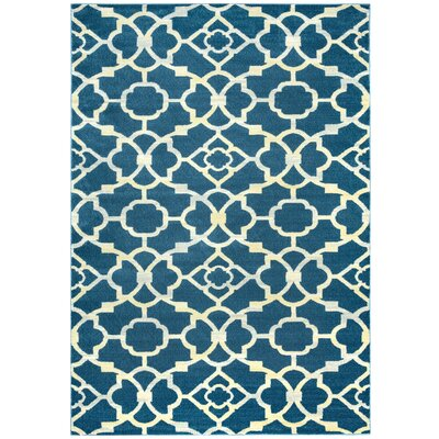 Black/Ivory Area Rug Rug Size: Rectangle 67 x 96