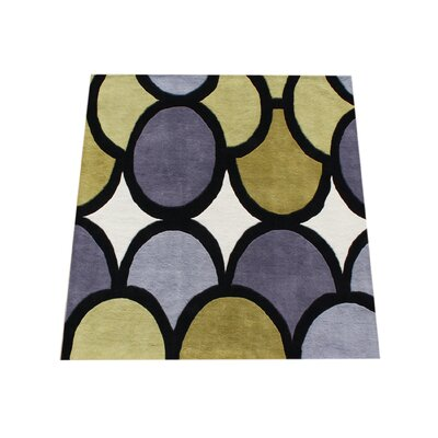 Hand-Woven Yellow Area Rug Rug Size: Square 6