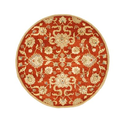 Ortley Hand-Tufted Area Rug Rug Size: Round 6